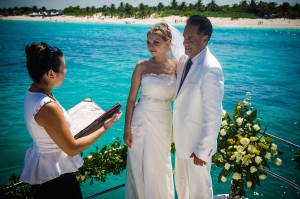 Playa del Carmen Wedding on a Yacht or Catamaran