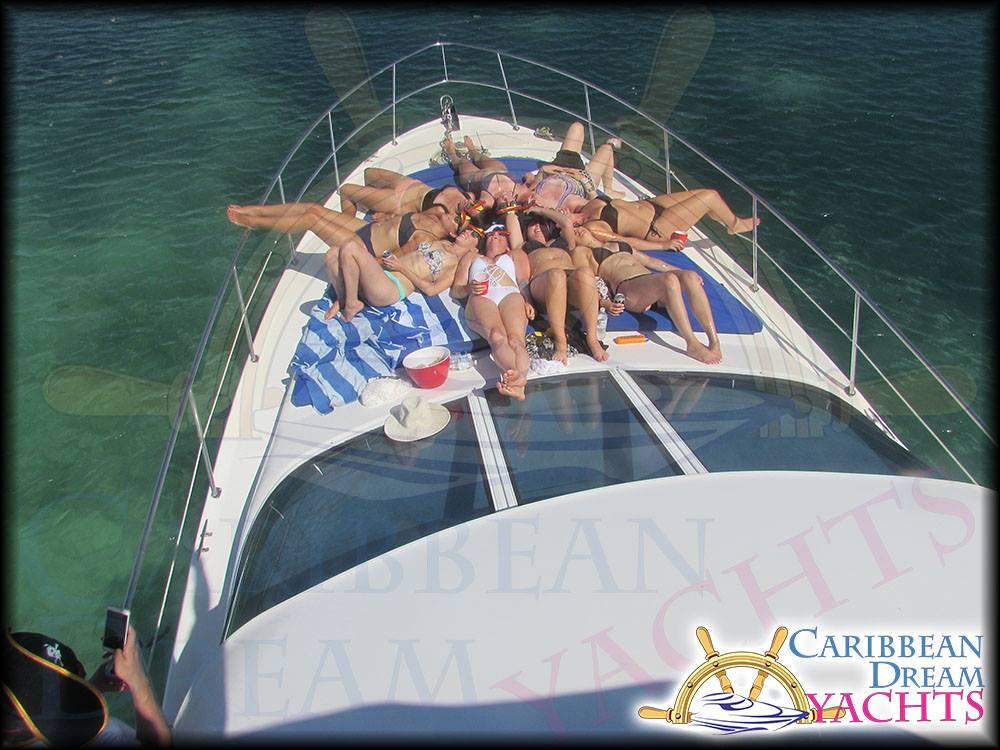 Sun Bathing on a Yacht