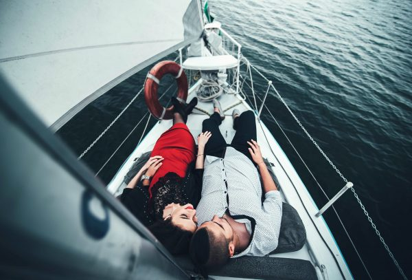 romantic date on yacht